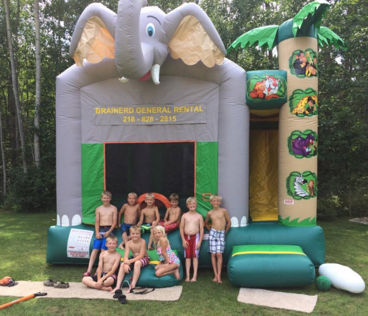 Brainerd Rental Bounce House with Kids